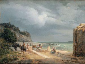 Xavier Leprince, Vue de la côte normande - Crédit photographique : Illustria.