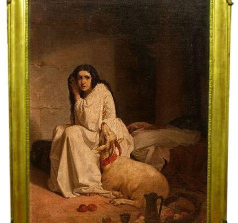 Esmeralda et sa chèvre dans la tour de Notre Dame de Paris