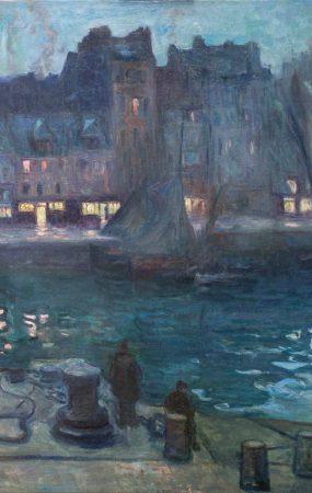 Othon FRIESZ (1879-1949), Le Vieux Bassin du Havre, le soir, 1903, huile sur toile, 81.3 x 100.5 cm.